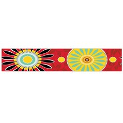 Sunflower Floral Red Yellow Black Circle Flano Scarf (large) by Alisyart