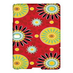 Sunflower Floral Red Yellow Black Circle Samsung Galaxy Tab S (10 5 ) Hardshell Case