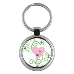 Sweetie Belle s Love Heart Music Note Leaf Green Pink Key Chains (round)
