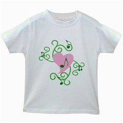 Sweetie Belle s Love Heart Music Note Leaf Green Pink Kids White T Shirts