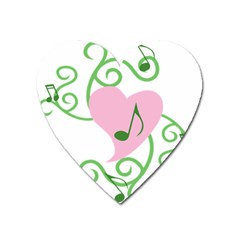 Sweetie Belle s Love Heart Music Note Leaf Green Pink Heart Magnet by Alisyart