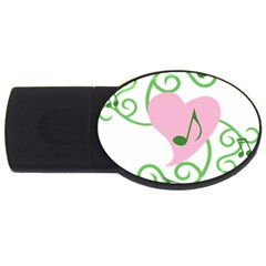 Sweetie Belle s Love Heart Music Note Leaf Green Pink Usb Flash Drive Oval (4 Gb) by Alisyart