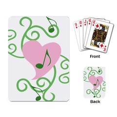 Sweetie Belle s Love Heart Music Note Leaf Green Pink Playing Card by Alisyart