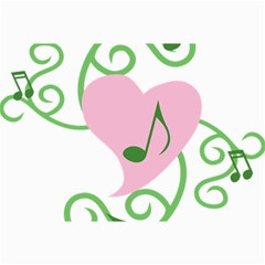 Sweetie Belle s Love Heart Music Note Leaf Green Pink Canvas 20  X 30   by Alisyart