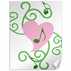 Sweetie Belle s Love Heart Music Note Leaf Green Pink Canvas 36  X 48
