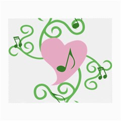 Sweetie Belle s Love Heart Music Note Leaf Green Pink Small Glasses Cloth (2 Side)