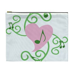 Sweetie Belle s Love Heart Music Note Leaf Green Pink Cosmetic Bag (xl) by Alisyart