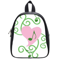 Sweetie Belle s Love Heart Music Note Leaf Green Pink School Bags (small)