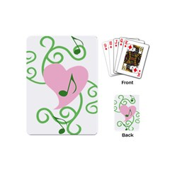Sweetie Belle s Love Heart Music Note Leaf Green Pink Playing Cards (mini)  by Alisyart