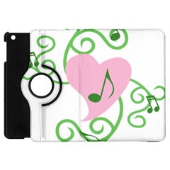 Sweetie Belle s Love Heart Music Note Leaf Green Pink Apple Ipad Mini Flip 360 Case by Alisyart