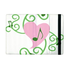 Sweetie Belle s Love Heart Music Note Leaf Green Pink Ipad Mini 2 Flip Cases by Alisyart
