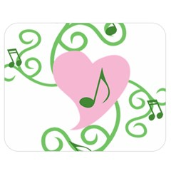 Sweetie Belle s Love Heart Music Note Leaf Green Pink Double Sided Flano Blanket (medium)