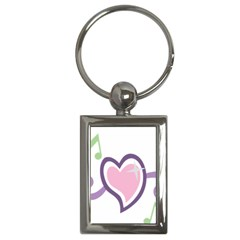 Sweetie Belle s Love Heart Star Music Note Green Pink Purple Key Chains (rectangle)