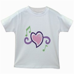 Sweetie Belle s Love Heart Star Music Note Green Pink Purple Kids White T Shirts