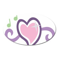 Sweetie Belle s Love Heart Star Music Note Green Pink Purple Oval Magnet by Alisyart