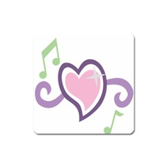 Sweetie Belle s Love Heart Star Music Note Green Pink Purple Square Magnet