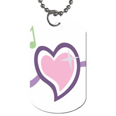 Sweetie Belle s Love Heart Star Music Note Green Pink Purple Dog Tag (one Side)