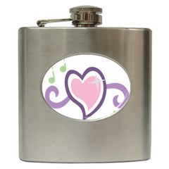 Sweetie Belle s Love Heart Star Music Note Green Pink Purple Hip Flask (6 Oz)