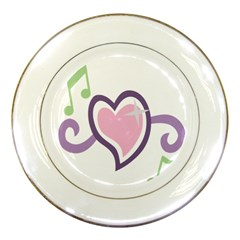 Sweetie Belle s Love Heart Star Music Note Green Pink Purple Porcelain Plates