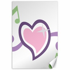 Sweetie Belle s Love Heart Star Music Note Green Pink Purple Canvas 20  X 30   by Alisyart