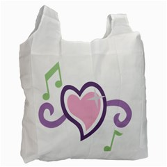 Sweetie Belle s Love Heart Star Music Note Green Pink Purple Recycle Bag (two Side)  by Alisyart