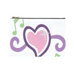 Sweetie Belle s Love Heart Star Music Note Green Pink Purple Cosmetic Bag (large)  by Alisyart