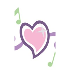 Sweetie Belle s Love Heart Star Music Note Green Pink Purple Shower Curtain 48  X 72  (small)  by Alisyart