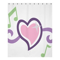 Sweetie Belle s Love Heart Star Music Note Green Pink Purple Shower Curtain 60  X 72  (medium)  by Alisyart