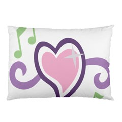 Sweetie Belle s Love Heart Star Music Note Green Pink Purple Pillow Case (two Sides) by Alisyart