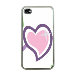 Sweetie Belle s Love Heart Star Music Note Green Pink Purple Apple Iphone 4 Case (clear)