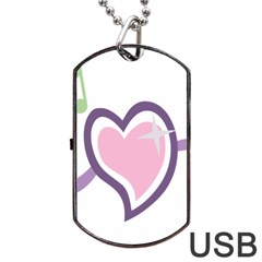 Sweetie Belle s Love Heart Star Music Note Green Pink Purple Dog Tag Usb Flash (one Side) by Alisyart