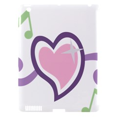 Sweetie Belle s Love Heart Star Music Note Green Pink Purple Apple Ipad 3/4 Hardshell Case (compatible With Smart Cover) by Alisyart
