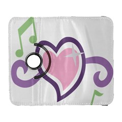 Sweetie Belle s Love Heart Star Music Note Green Pink Purple Galaxy S3 (flip/folio) by Alisyart