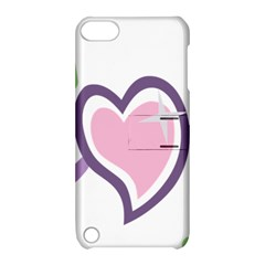 Sweetie Belle s Love Heart Star Music Note Green Pink Purple Apple Ipod Touch 5 Hardshell Case With Stand by Alisyart