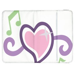 Sweetie Belle s Love Heart Star Music Note Green Pink Purple Samsung Galaxy Tab 7  P1000 Flip Case