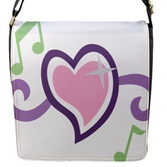 Sweetie Belle s Love Heart Star Music Note Green Pink Purple Flap Messenger Bag (s)
