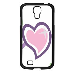 Sweetie Belle s Love Heart Star Music Note Green Pink Purple Samsung Galaxy S4 I9500/ I9505 Case (black)