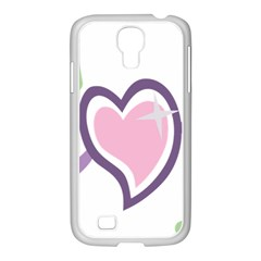 Sweetie Belle s Love Heart Star Music Note Green Pink Purple Samsung Galaxy S4 I9500/ I9505 Case (white)