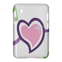 Sweetie Belle s Love Heart Star Music Note Green Pink Purple Samsung Galaxy Tab 2 (7 ) P3100 Hardshell Case