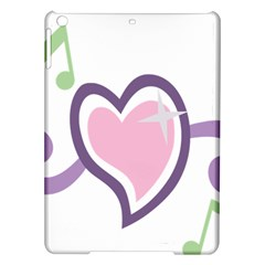 Sweetie Belle s Love Heart Star Music Note Green Pink Purple Ipad Air Hardshell Cases