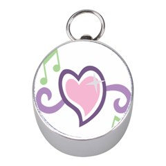 Sweetie Belle s Love Heart Star Music Note Green Pink Purple Mini Silver Compasses
