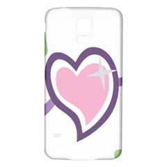 Sweetie Belle s Love Heart Star Music Note Green Pink Purple Samsung Galaxy S5 Back Case (white) by Alisyart
