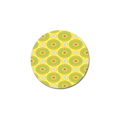Sunflower Floral Yellow Blue Circle Golf Ball Marker by Alisyart