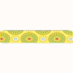 Sunflower Floral Yellow Blue Circle Small Bar Mats by Alisyart