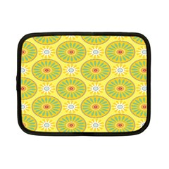 Sunflower Floral Yellow Blue Circle Netbook Case (small)  by Alisyart