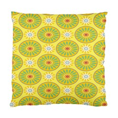 Sunflower Floral Yellow Blue Circle Standard Cushion Case (two Sides) by Alisyart