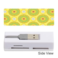 Sunflower Floral Yellow Blue Circle Memory Card Reader (stick)  by Alisyart