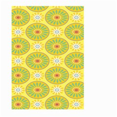 Sunflower Floral Yellow Blue Circle Large Garden Flag (two Sides)