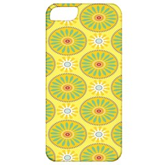 Sunflower Floral Yellow Blue Circle Apple Iphone 5 Classic Hardshell Case