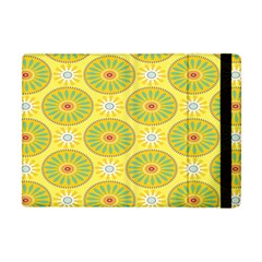 Sunflower Floral Yellow Blue Circle Apple Ipad Mini Flip Case by Alisyart